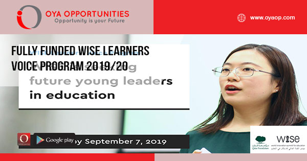 Fully Funded WISE Learners Voice Program 2019/20
