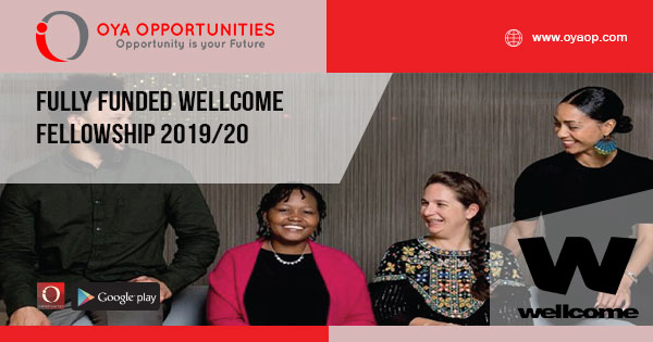 Fully Funded Wellcome Fellowship 2019/20