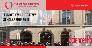 Funded Emile-Boutmy Scholarship 2019