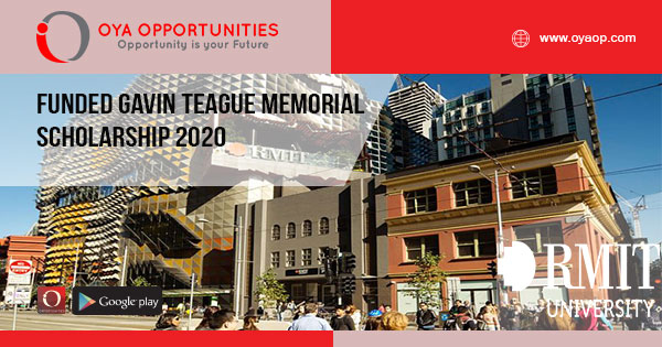 Funded Gavin Teague Memorial Scholarship 2020