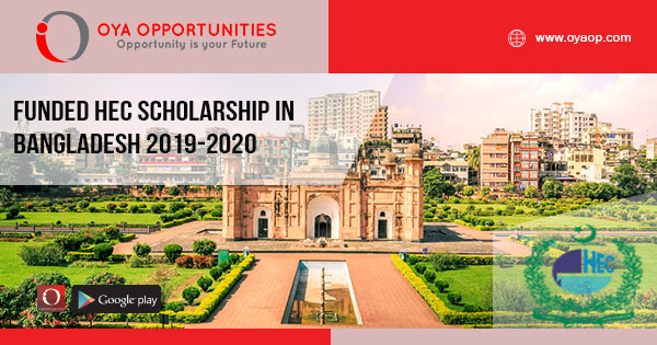 Funded HEC Scholarship in Bangladesh 2019-2020