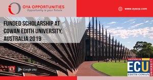 Funded Scholarship at Cowan Edith University, Australia 2019