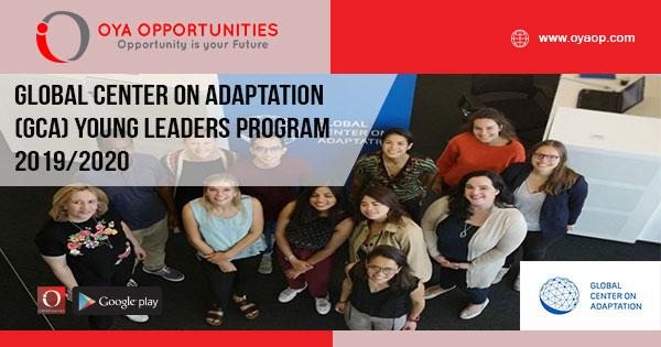 Global Center on Adaptation (GCA) Young Leaders Program 2019/2020
