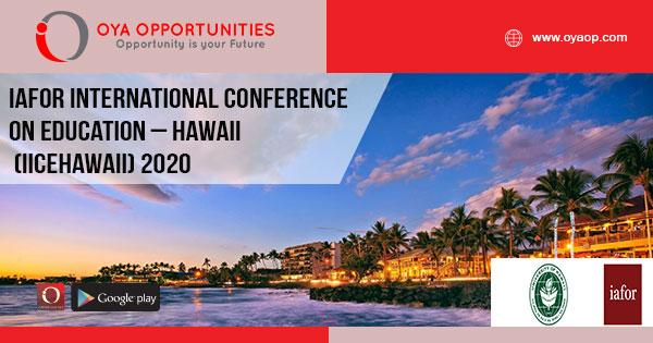IAFOR International Conference on Education – Hawaii (IICEHawaii) 2020