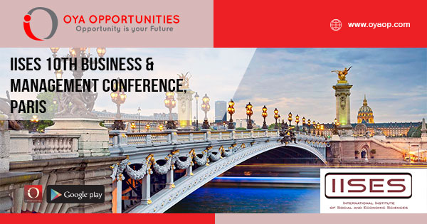 IISES 10th Business & Management Conference, Paris