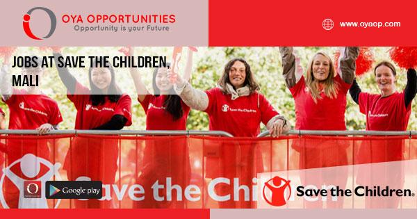 Jobs at Save the Children, Mali
