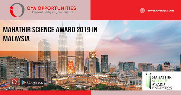 Mahathir Science Award 2019 in Malaysia