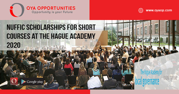 Nuffic Scholarships for Short Courses at The Hague Academy 2020