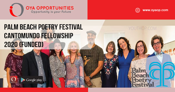 Palm Beach Poetry Festival CantoMundo Fellowship 2020 (Funded)