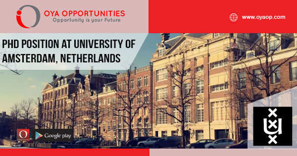 PhD position at University of Amsterdam - OYA Opportunities