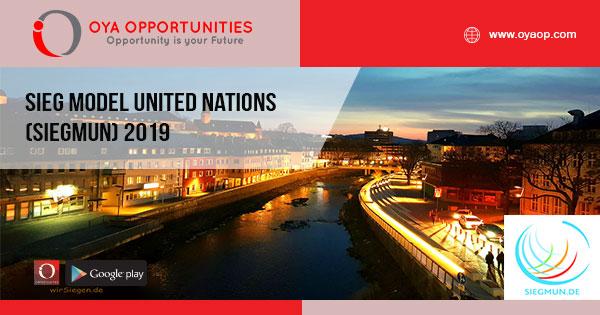 Sieg Model United Nations (SiegMUN) 2019