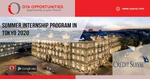 Summer Internship Program in Tokyo 2020