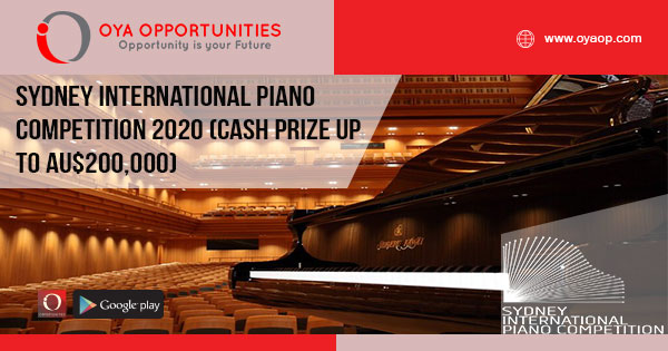 Sydney International Piano Competition 2020 (Cash prize up to AU$200,000)
