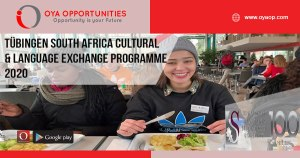 Tübingen South Africa Cultural and Language Exchange Programme 2020