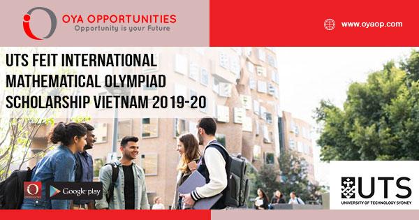 UTS FEIT International Mathematical Olympiad Scholarship Vietnam 2019-20