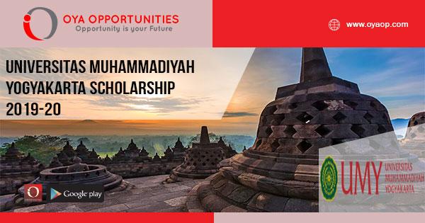 Universitas Muhammadiyah Yogyakarta Scholarship 2019-20