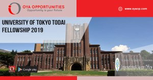 University of Tokyo Todai Fellowship 2019