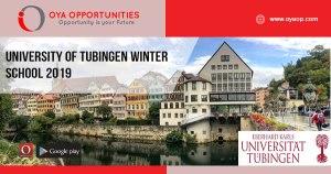 University of Tubingen Winter School 2019