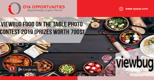 ViewBug Food On The Table Photo Contest 2019 (Prizes worth 700$)