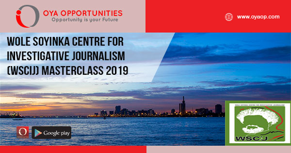 Wole Soyinka Centre for Investigative Journalism (WSCIJ) Masterclass 2019