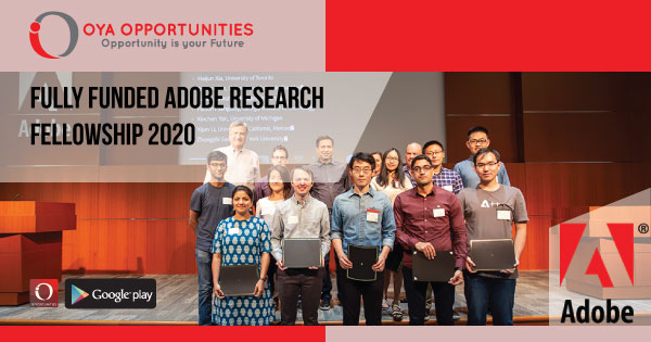 Fully Funded Adobe Research Fellowship 2020