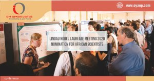 Lindau Nobel Laureate Meeting 2020 Nomination for African Scientists