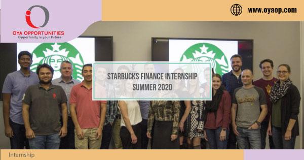 Starbucks Finance Internship Summer 2020