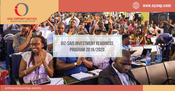 GIZ-SAIS Investment Readiness Program 2019/2020