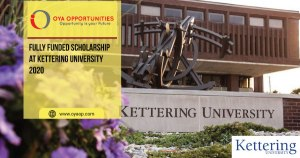Fully Funded Scholarship at Kettering University 2020