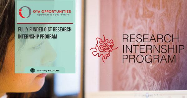 Fully Funded OIST Research Internship Program
