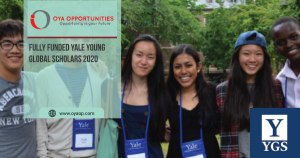 Fully Funded Yale Young Global Scholars 2020