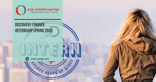 Discovery Finance Internship Spring 2020