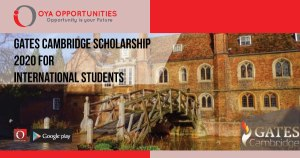 Gates Cambridge Scholarship 2020 for International Students