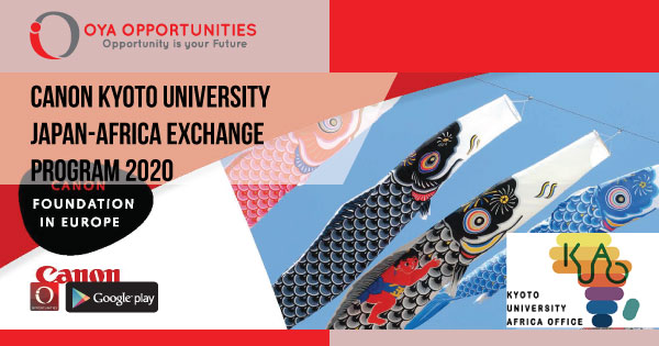 Fully Funded Canon Kyoto University Japan-Africa Exchange