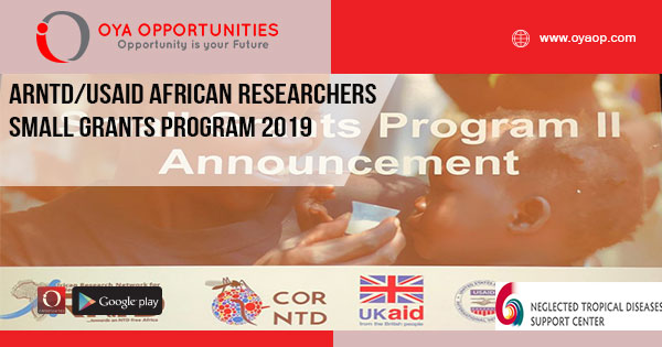 ARNTD/USAID African Researchers Small Grants Program 2019