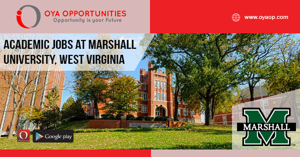 Academic jobs at Marshall University, West Virginia