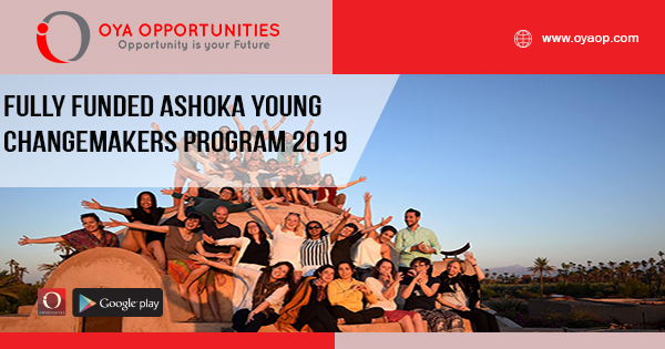 Fully Funded Ashoka Young Changemakers Program 2019