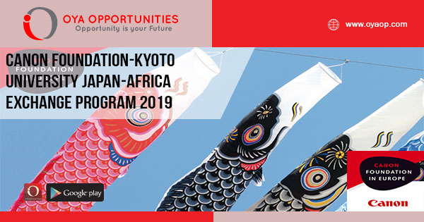 Canon Foundation-Kyoto University Japan-Africa Exchange Program 2019
