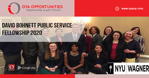 David Bohnett Public Service Fellowship 2020
