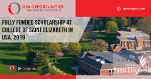 Fully Funded Scholarship at College of Saint Elizabeth in USA, 2019