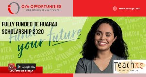 Fully Funded Te Huarau Scholarship 2020