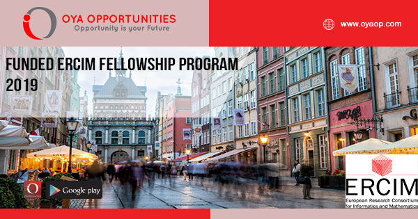 Funded ERCIM Fellowship Program 2019