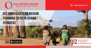 GIZ GmbH Eastern Region Training 2019 in Ghana (Funded)