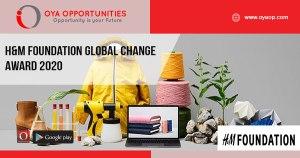 H&M Foundation Global Change Award 2020