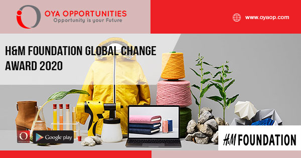 H&M Foundation Global Change Award 2020