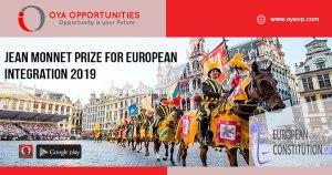 Jean Monnet Prize for European Integration 2019