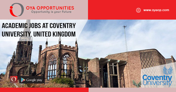 Lecturer Jobs at Coventry University, United Kingdom