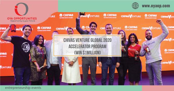 Chivas Venture Global 2020 Accelerator Program(Win $1Million)