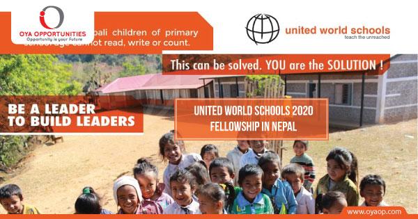 United World Schools 2020 Fellowship in Nepal