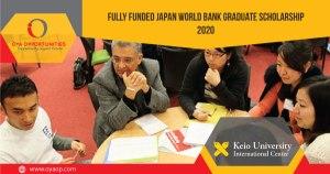 Fully Funded Japan World Bank Graduate Scholarship 2020